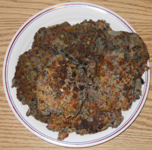 Plate of bean burgers