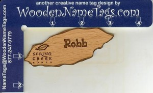 Name Tag - Wooden Name Tags.com