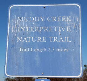 Muddy Creek Interpretive Nature Trail sign