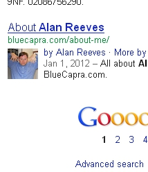 1st on Google - Alan Reeves - 3rd week search