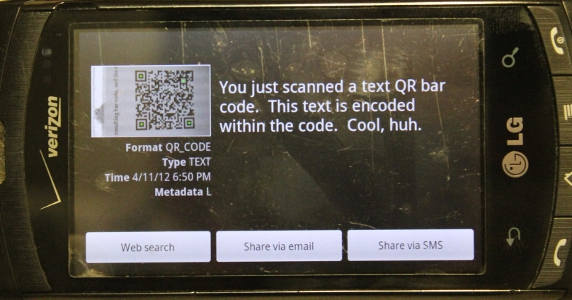9 faces of the QR - Text - Result