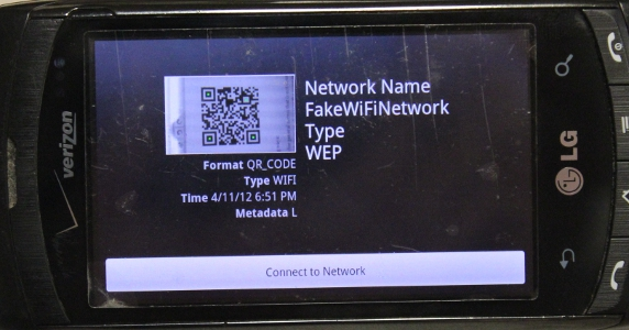 9 faces of the QR - Wifi Network - Result