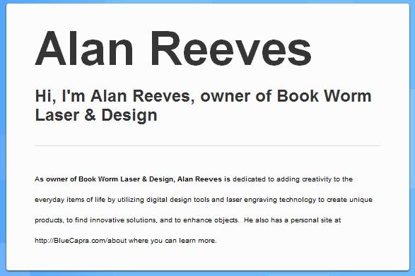 1st on Google - BrandYourself profile of Alan Reeves