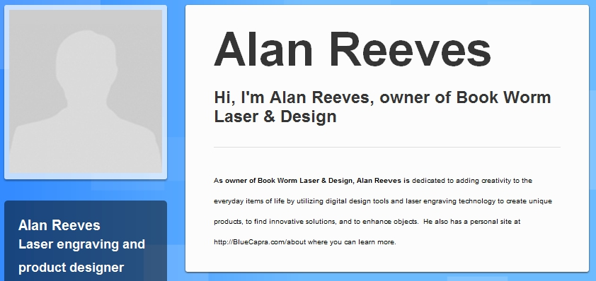 The Search for Alan Reeves - 1st on Google - Week 35 - BrandYourself profile