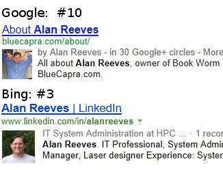 Alan Reeves - 1st on Google - Top search engine results for Google and Bing