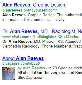 Alan Reeves - 1st on Google - Week 46