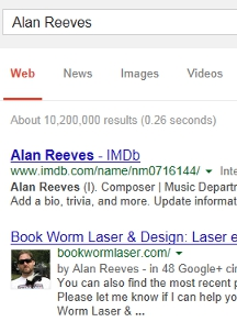 Where's Alan Reeves? - Getting To 1st On Google - Week 109
