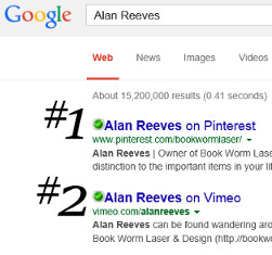 Where's Alan Reeves? - Getting To 1st On Google - Week 121 - #1 and #2