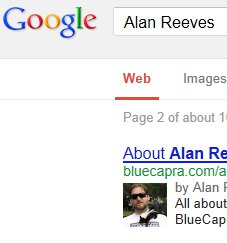The Search for Alan Reeves - 1st on Google - Week 61 - Page 2 result