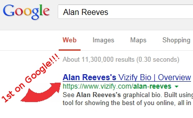 The Search for Alan Reeves - 1st on Google - #1 at last!!!!!