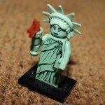 Closeup shot of Lady Liberty