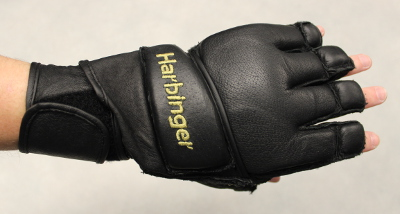 Harbinger 320 Gloves Review - Krav Maga Gear - Wrist strap after slipping