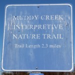 Muddy Creek Interpretive Nature Trail sign