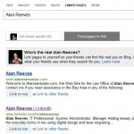 1st on Google - Linked pages on Bing - searching for Alan Reeves