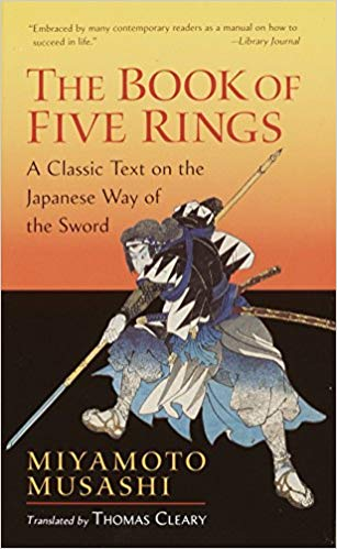 Book cover for The Book of Five Rings by Miyamoto Musashi