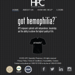 Got Hemophilia site on a tablet